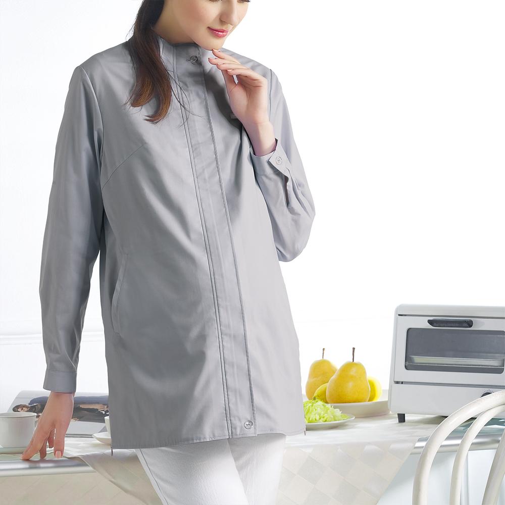 六甲村健康防護衣/立領長袖外套/時尚灰
