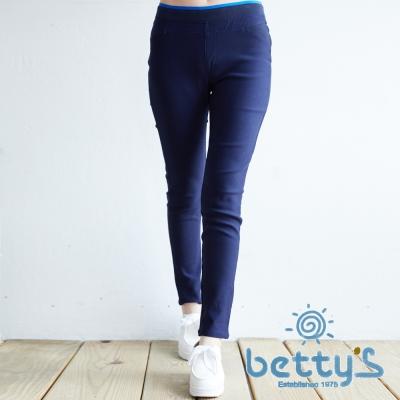 betty's貝蒂思 雙色褲頭貼身長褲(藍色)