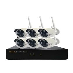 宇晨I-Family免配線/免設定960P八路式無線監視系統套裝一機六鏡