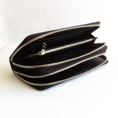 Majacase - 手工訂製多卡 雙拉鍊 長夾式 風琴式 零錢包 信用卡-小牛皮