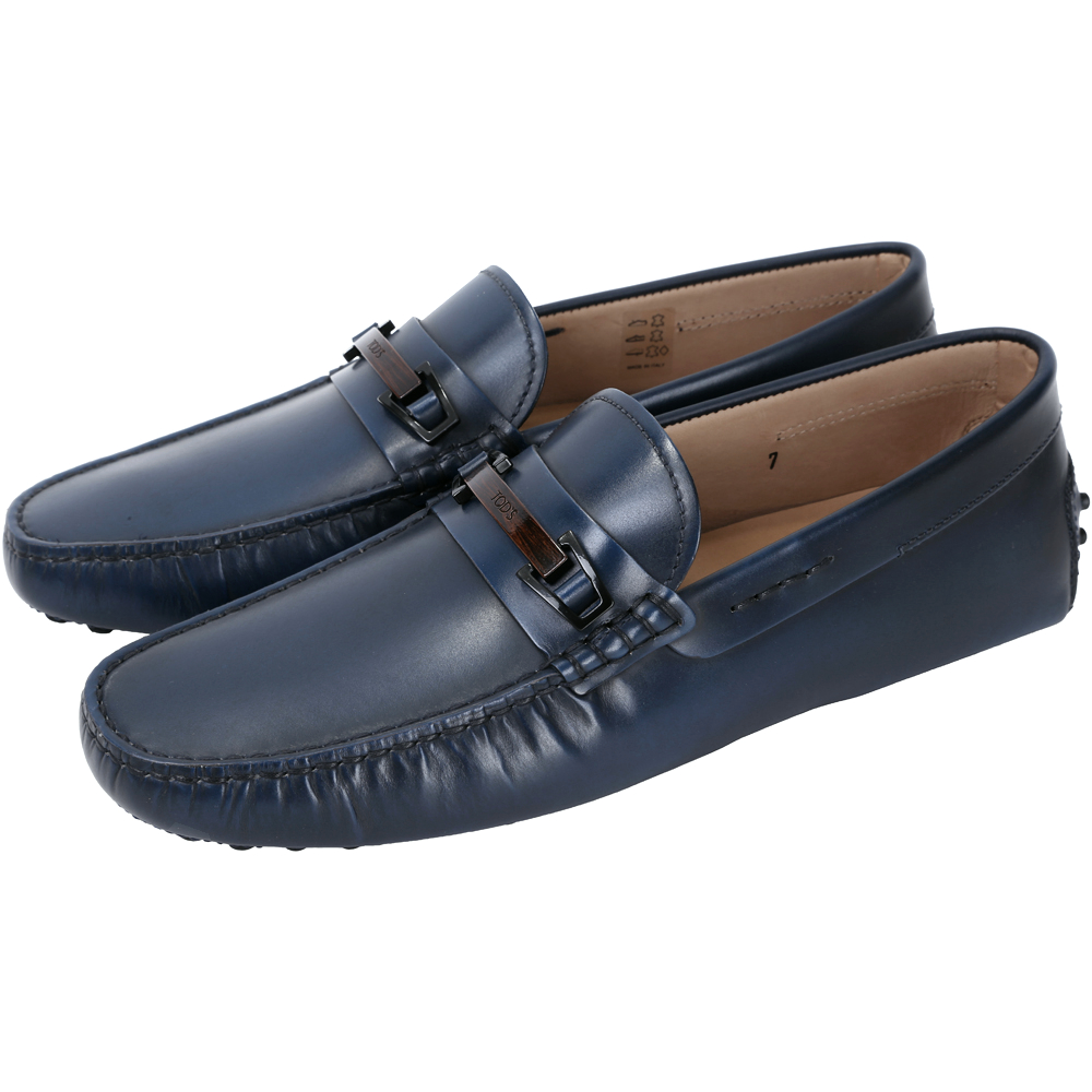 TOD'S GOMMINO MOCASSINO 牛皮豆豆休閒鞋(男鞋/深藍色)