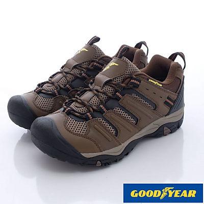 GOODYEAR-護趾寬楦越野登山鞋-MOSI3593咖
