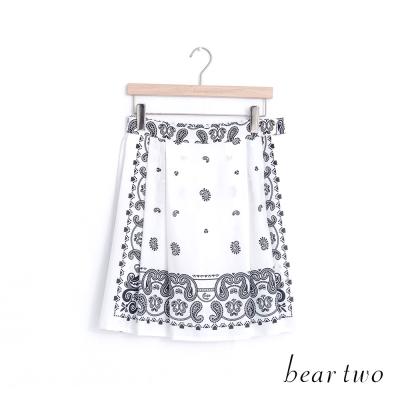 beartwo 異國情調變形蟲圖騰短裙(二色)
