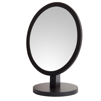 圓型可調式實木桌上鏡