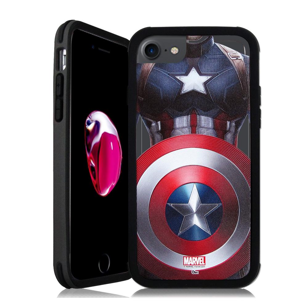 MARVEL漫威&SOLiDE iPhone 7 4.7吋 軍規防摔手機殼(隊長盾牌)