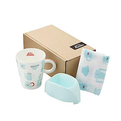 日本Kalita咖啡馬克濾杯組合(天使藍) #73114