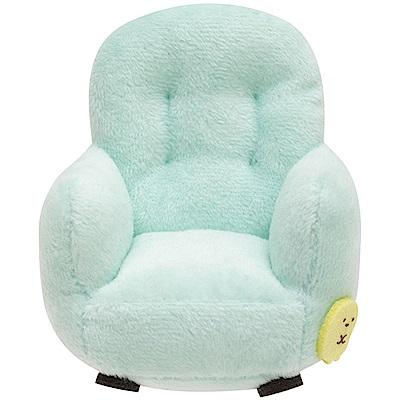 角落掌心沙包公仔的小家具。單人沙發。藍   San-X