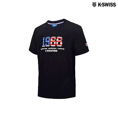 K-Swiss 1966 Logo Tee印花短袖T恤-男-黑
