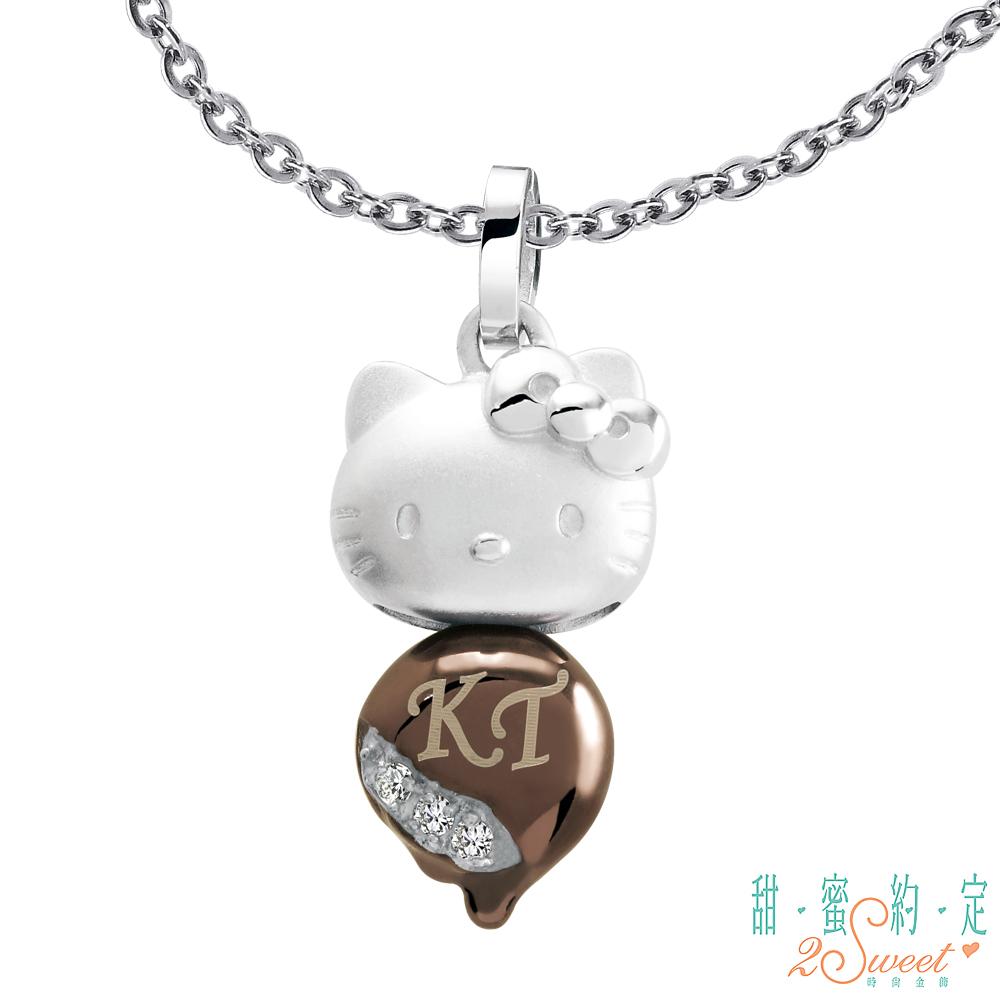 甜蜜約定 HelloKitty 甜蜜蜜Kitty白鋼項鍊