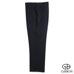 GIBBON 大尺碼超細纖維質感平口西裝褲‧黑色