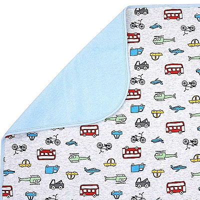 Baby unicorn 灰底汽車多功能防水隔尿墊野餐墊