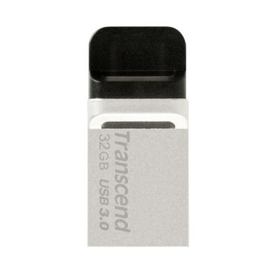 創見 32G JetFlash 880 USB 3.0 OTG 隨身碟(銀色)