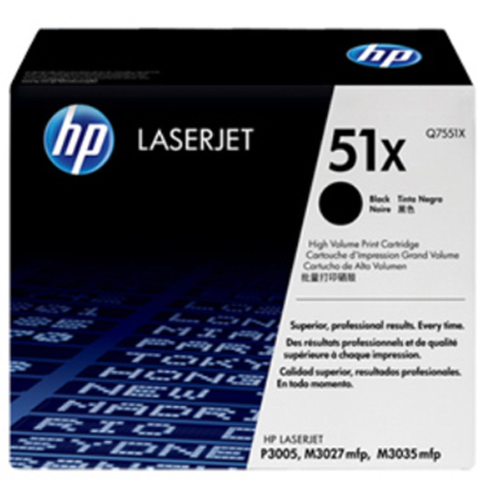 HP Q7551X  原廠黑色碳粉匣