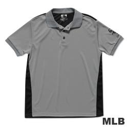 MLB-芝加哥白襪隊修身撞色快排POLO衫-灰(男)