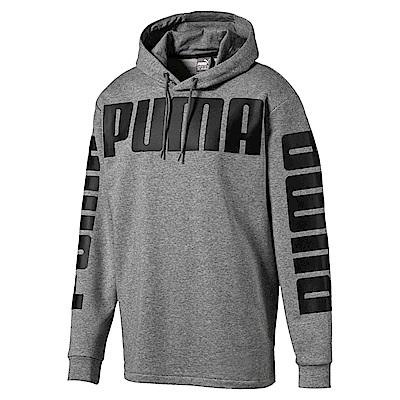 PUMA-男性基本系列Rebel長厚連帽T恤-中麻花灰-亞規