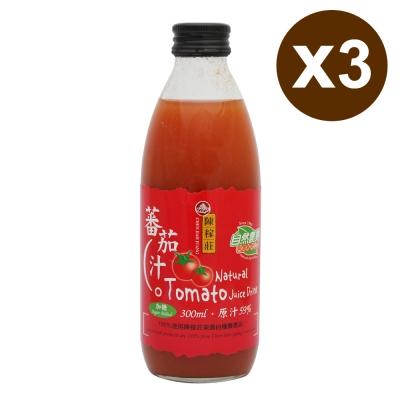 陳稼莊 台灣本產蕃茄汁(300mlx3入)