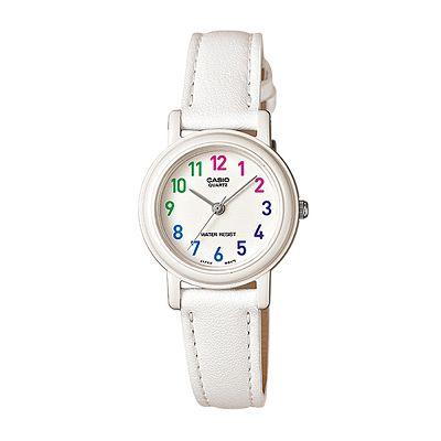 CASIO 馬卡龍甜心魅力皮帶腕錶(LQ-139L-7B)-粉嫩白/26mm