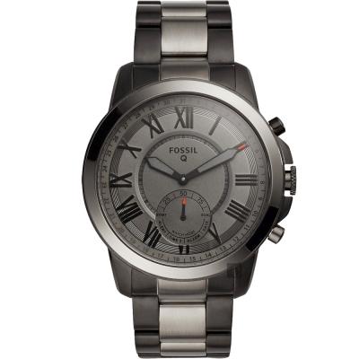 FOSSIL Q Grant 指針式智慧型腕錶(FTW1139)-鐵灰/44mm