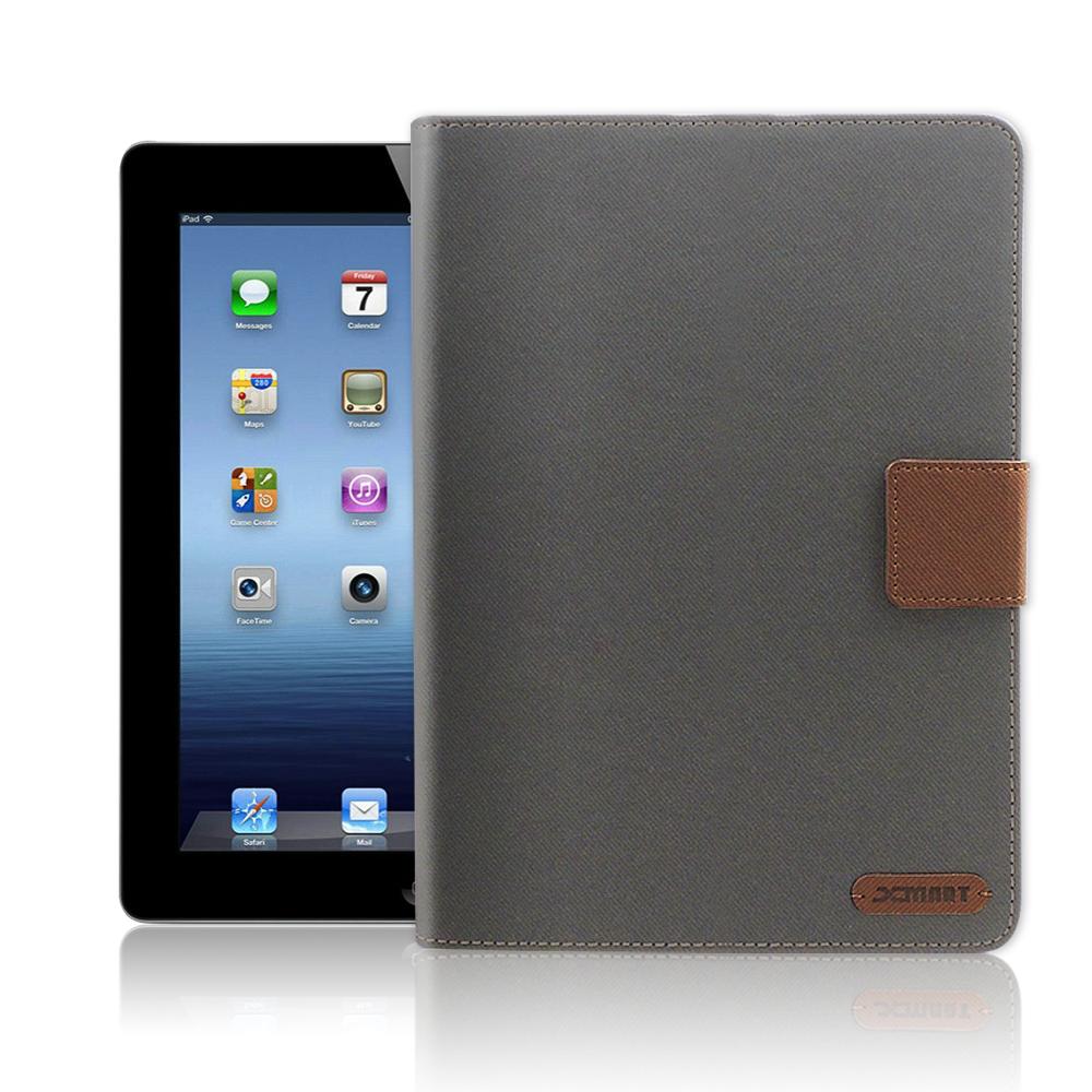 XM  iPad 2/iPad 3/iPad 4 微笑休閒風支架皮套