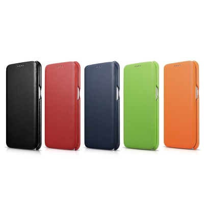 ICARER奢華曲風三星Galaxy S7 edge磁吸側掀手工真皮手機皮套