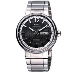 MIDO Great Wall 天文台認證長城系列機械腕錶-灰黑/42mm