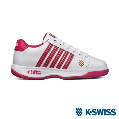 K-Swiss-Eadall休閒運動鞋-女-白-紫