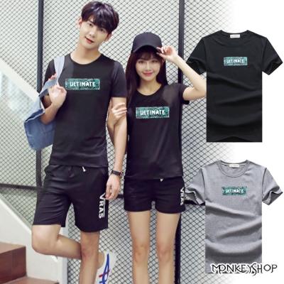 Monkey Shop 正韓情侶ULTIMATE印花短袖T恤-2色