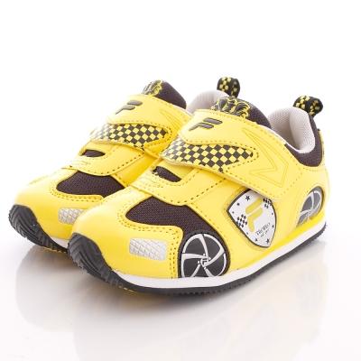 FILA頂級童鞋-競速賽車電燈鞋款-7-J455P-900黃(中小童段)-N