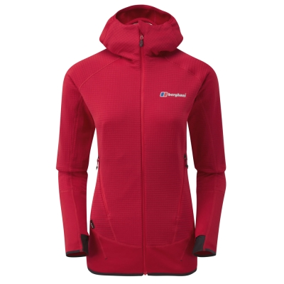 【Berghaus 貝豪斯】女款銀離子溫度調節保暖外套H22FS1紅