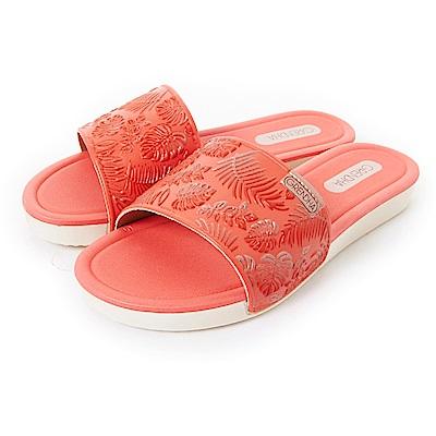 GRENDHA 典雅歐風印象休閒鞋-橘紅