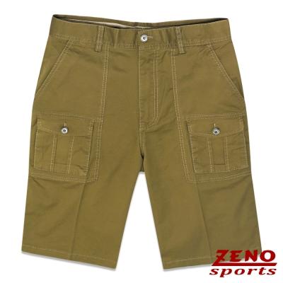 ZENO 超彈性精品休閒工作短褲‧褐色31~42