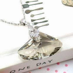 伊飾晶漾iSCrystal 香檳鑲鑽水晶項鍊