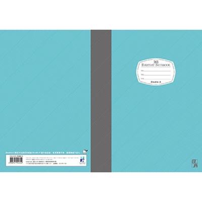 【10入組】Double A  A5/25K膠裝筆記本-藍40頁 每日經典系列