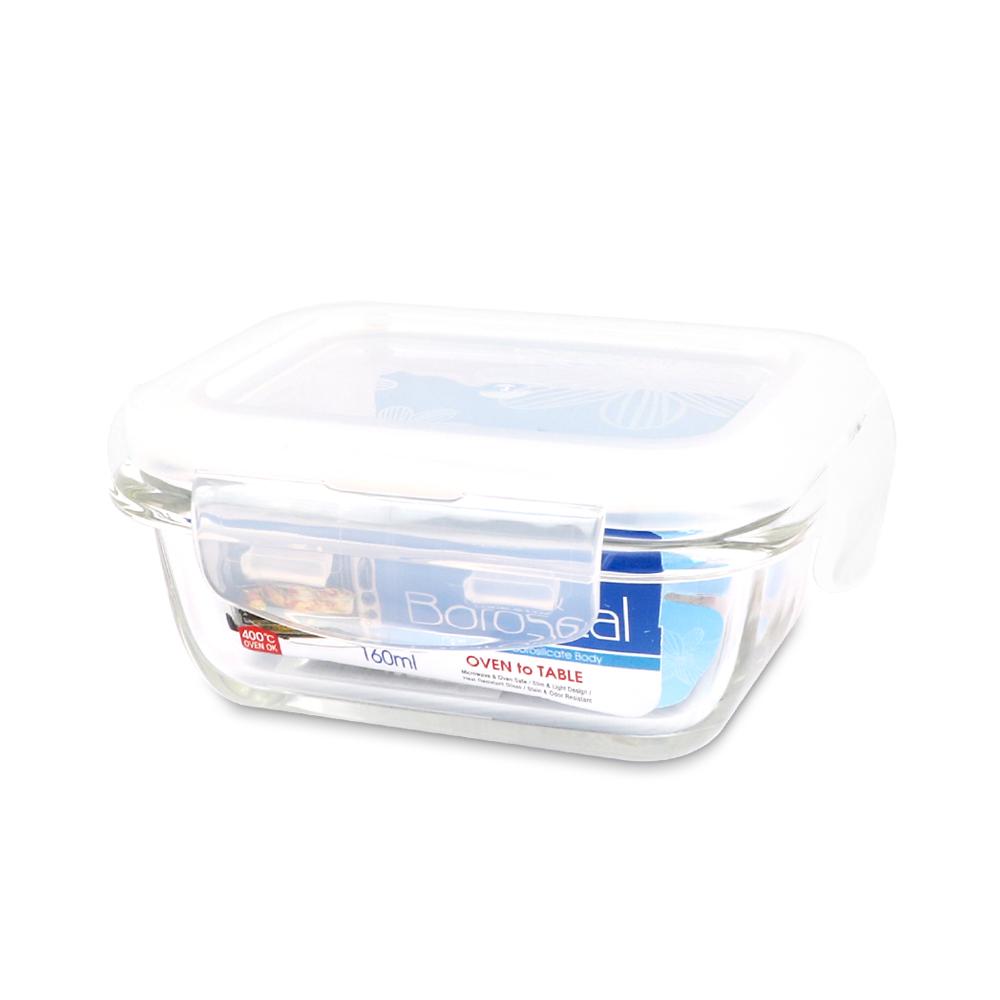 樂扣樂扣 第三代耐熱玻璃保鮮盒-長方形160ML(8H)