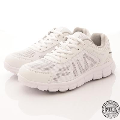 FILA 女款舒適運動慢跑鞋大LOGO款(白5-J906R-114)