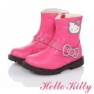 HelloKitty 傳統手工鞋廠高級超纖皮革童靴-桃色