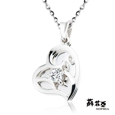 蘇菲亞SOPHIA - 悸動0.12克拉八心八箭鑽石項鍊-18K