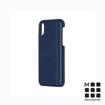 MOLESKINE iPhone X 經典硬殼套-寶藍