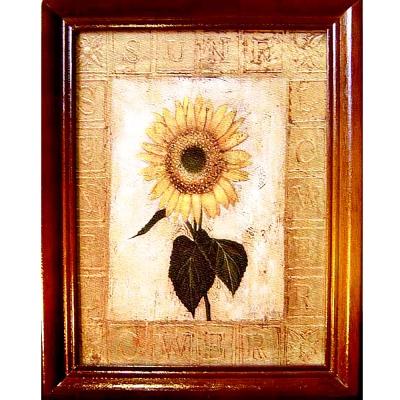 開運陶源【Sunflower向日葵】原木鑰匙盒壁飾