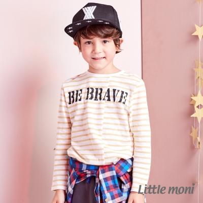 Little moni 條紋拼接上衣 (共2色)