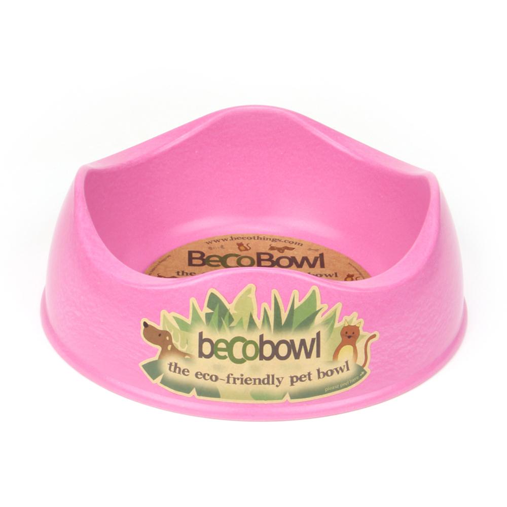 Beco Pet 馬卡龍環保竹酯餐碗(M)-粉紅