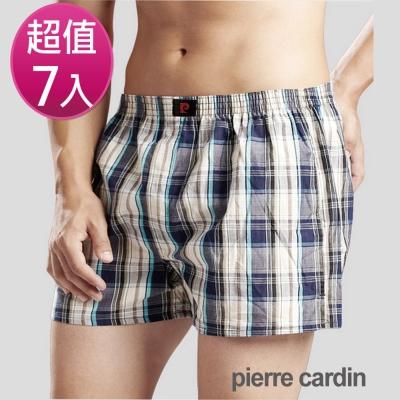 Pierre Cardin 皮爾卡登 精梳棉色織五片式平口褲(7件組)