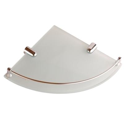 I-Bath 衛浴配件-角落專用玻璃平台架(有框) 25 cm