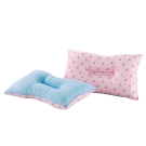 精靈工廠 3M吸濕排汗專利雙色點點人體工學止鼾枕-粉點+淺藍