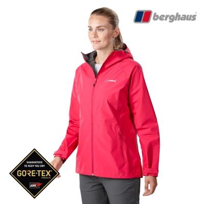 【Berghaus貝豪斯】女款GT輕量防水透氣連帽外套H22FS8玫瑰粉