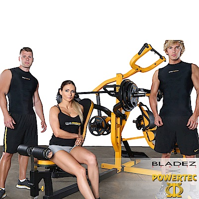【BLADEZ】POWERTEC-WB-MS16-BY雙站多功能重量訓練台(黑黃)