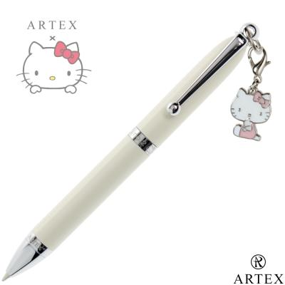 ARTEX x KITTY 3入綴飾筆禮盒包 米白(贈項鍊與手環)