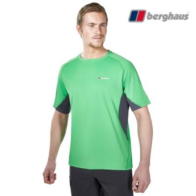 【Berghaus貝豪斯】男款銀離子除臭抗菌吸濕快乾短袖上衣S04M04青綠