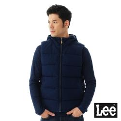Lee 羽絨背心80%羽絨後身圖騰印花- 男款-藍