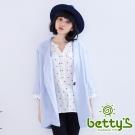 betty's貝蒂思 七分袖西裝大衣(天藍色)